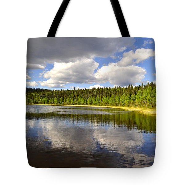 Tote Bag featuring the photograph Little Lost Lake by Cathy Mahnke