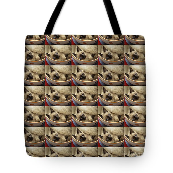 Little Miss Blue Eyes 35 Tote Bag by Andee Design
