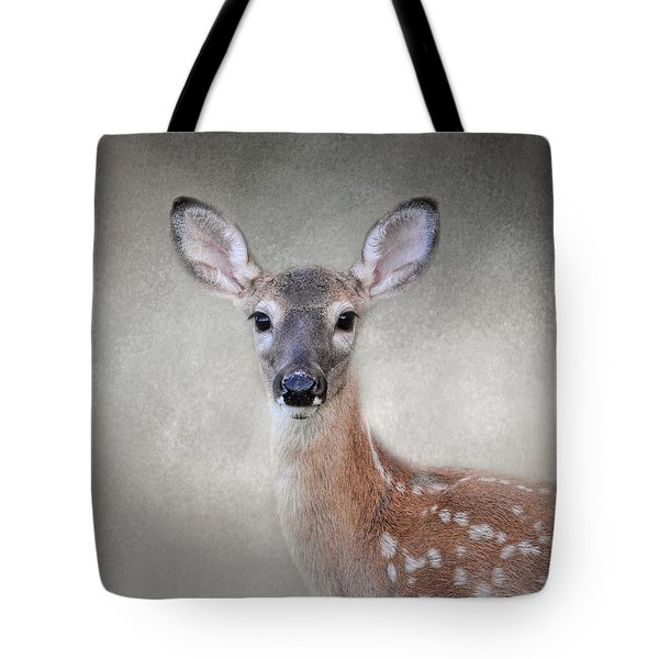 Little Miss Lashes - White Tailed Deer - Fawn Tote Bag