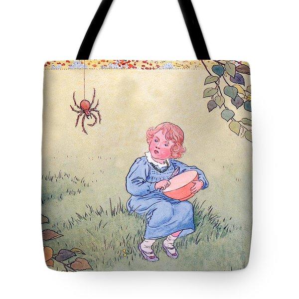 Little Miss Muffet Tote Bag by Leonard Leslie Brooke