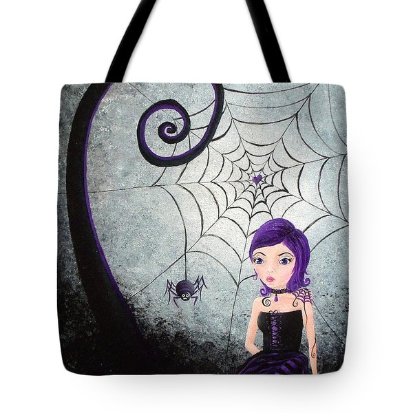 Little Miss Muffet Tote Bag by Oddball Art Co by Lizzy Love