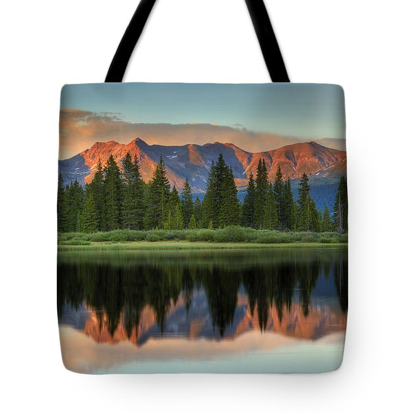 Tote Bag featuring the photograph Little Molas Lake Sunset 2 by Alan Vance Ley