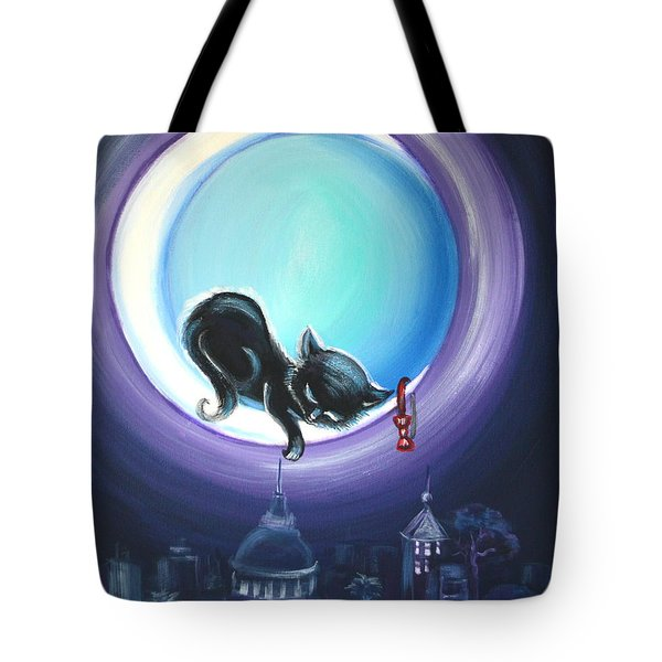 Tote Bag featuring the painting Little Nap by Agata Lindquist