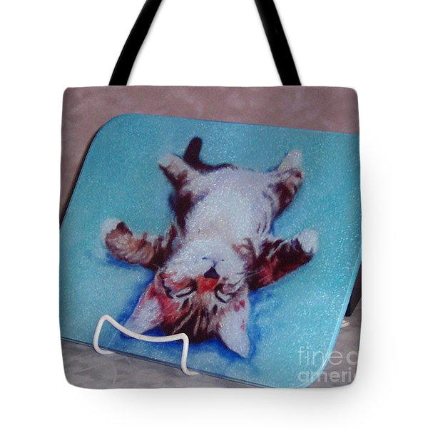 Little Napper Cutting And Serving Board Tote Bag by Pat Saunders-White