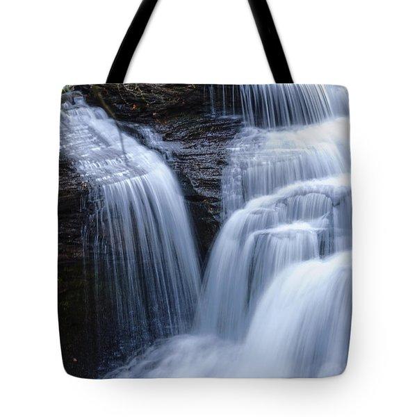 Tote Bag featuring the photograph Little Niagara by Debra Fedchin