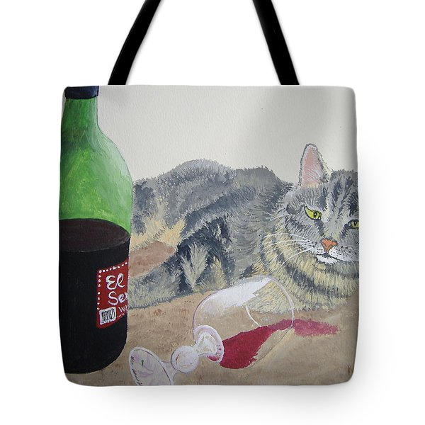 Little Ol' Wine Drinker Me Tote Bag by Norm Starks