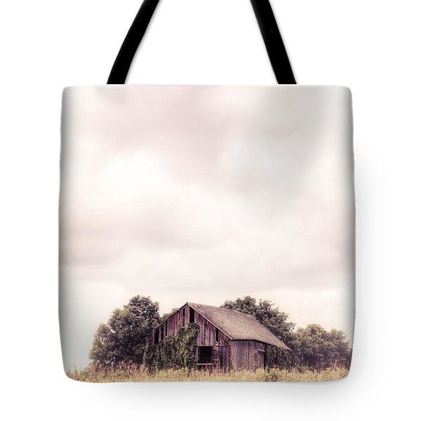 Tote Bag featuring the photograph Little Old Barn In The Field - Ontario County New York State by Gary Heller