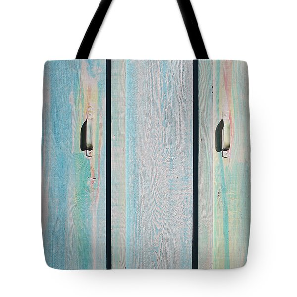 Little Pump House Door Tote Bag by Asha Carolyn Young