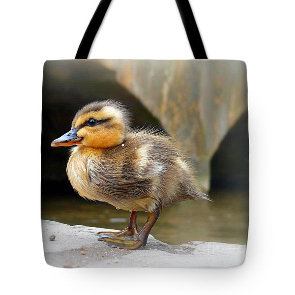 Tote Bag featuring the photograph Little Quack by Morag Bates