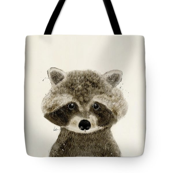 Little Raccoon Tote Bag by Bri B
