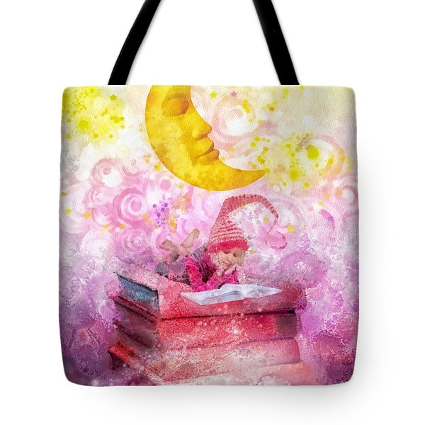 Little Reader Tote Bag by Mo T