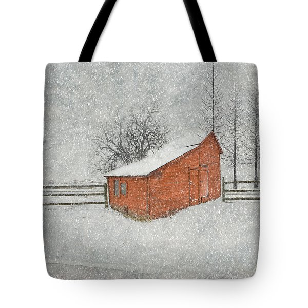 Little Red Barn Tote Bag by Juli Scalzi