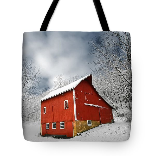 Tote Bag featuring the photograph Little Red Barn by Todd Klassy