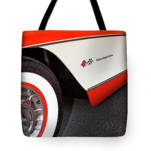 Little Red Corvette Palm Springs Tote Bag by William Dey