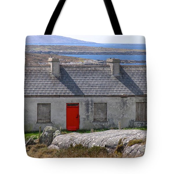 Little Red Door II Tote Bag by Suzanne Oesterling