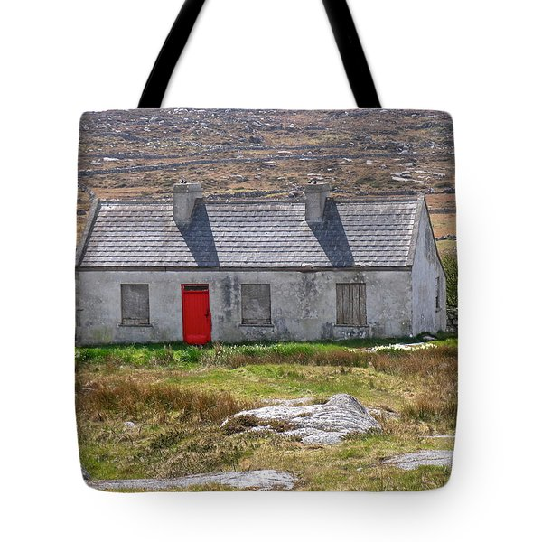 Little Red Door Tote Bag by Suzanne Oesterling