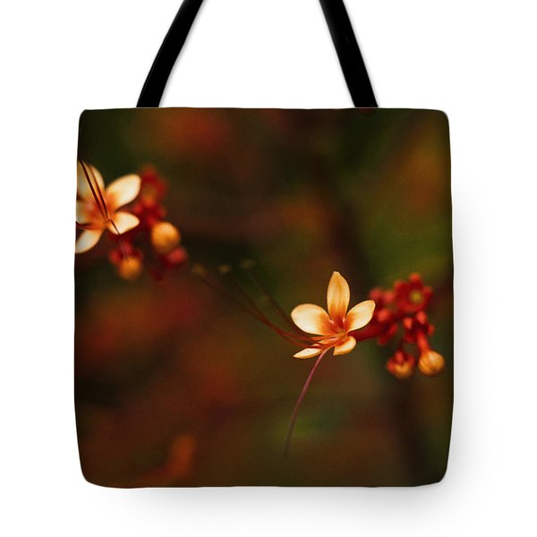 Little Red Flowers Tote Bag by Bradley R Youngberg