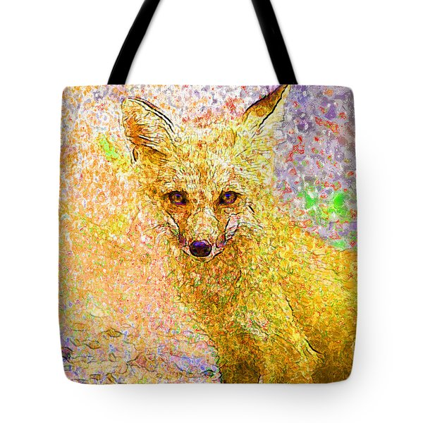 Little Red Fox Tote Bag by Claire Bull