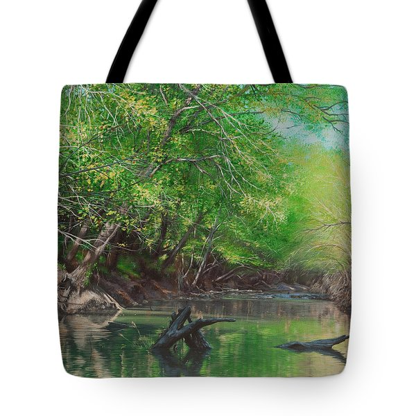 Little Red Morning Tote Bag
