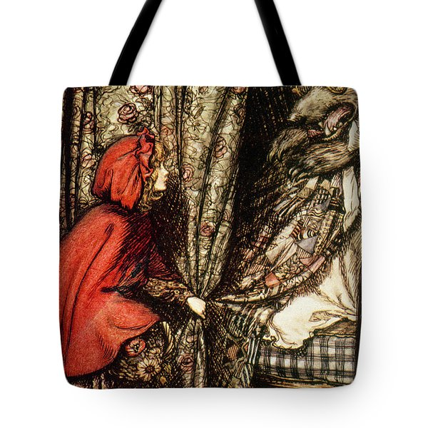 Little Red Riding Hood Tote Bag by Arthur Rackham