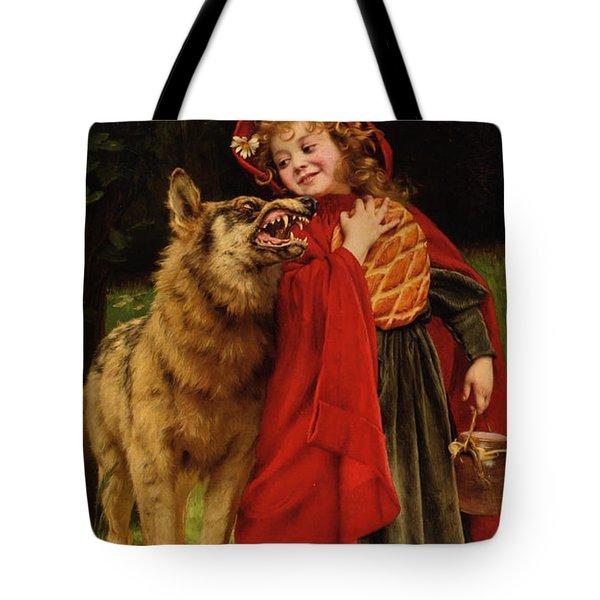 Little Red Riding Hood Tote Bag by Gabriel Joseph Marie Augustin Ferrier