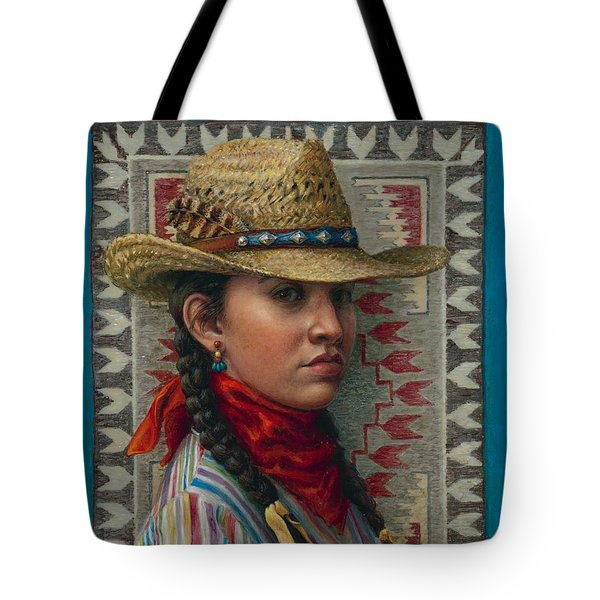 Little Rising Hawk Tote Bag by Jane Bucci