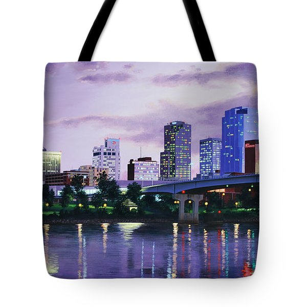 Little Rock Skyline Tote Bag