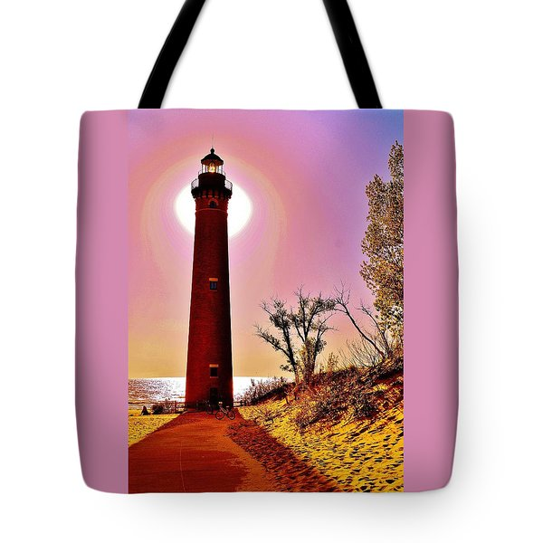 Little Sable Point Lighthouse Tote Bag