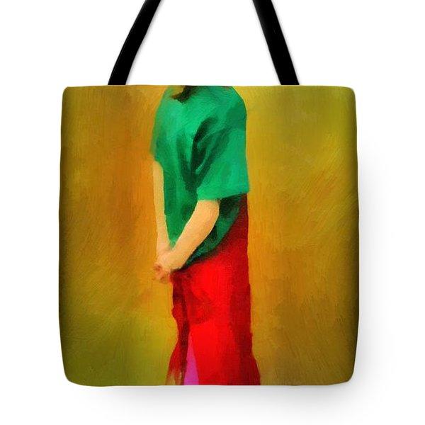 Little Shopgirl Tote Bag