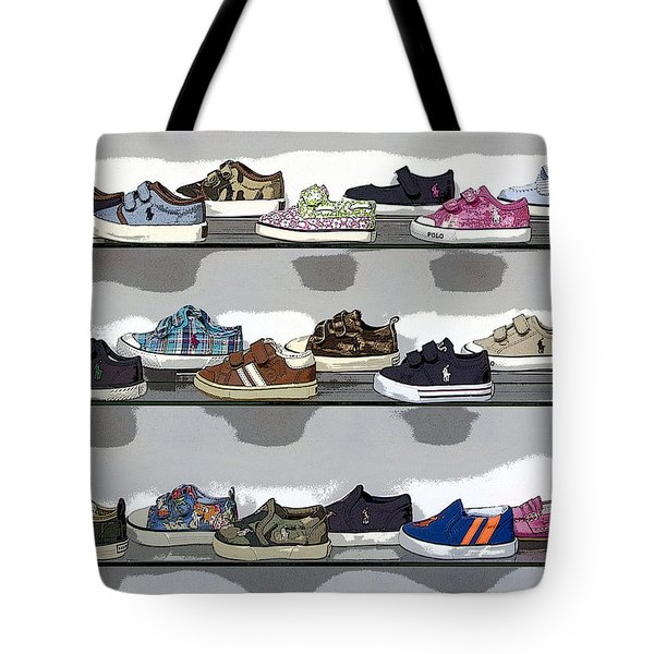 Little Sneakers Tote Bag by Keith Armstrong