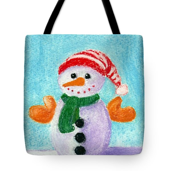 Little Snowman Tote Bag