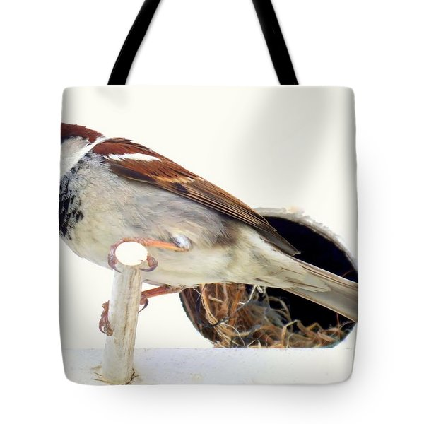 Little Sparrow Tote Bag by Karen Wiles