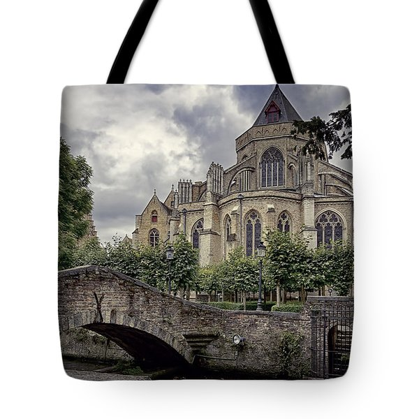 Little Stone Bridge By The Church Tote Bag by Joan Carroll