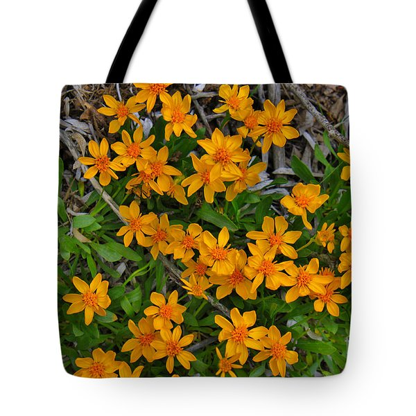 Tote Bag featuring the photograph Little Sunflower In The Mountains by Janice Rae Pariza