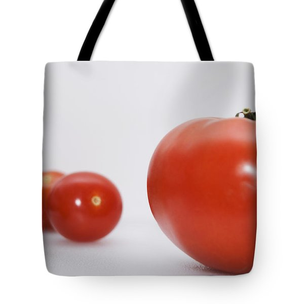 Little Tomatoes And One Big Tomato Tote Bag by Marlene Ford
