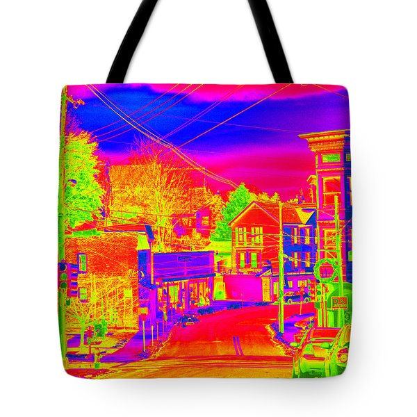 Tote Bag featuring the photograph Little Town Come To Life by Cathy Shiflett