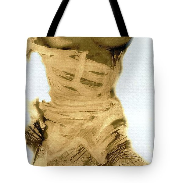 Little Warrior - Female Nude Tote Bag by Carolyn Weltman
