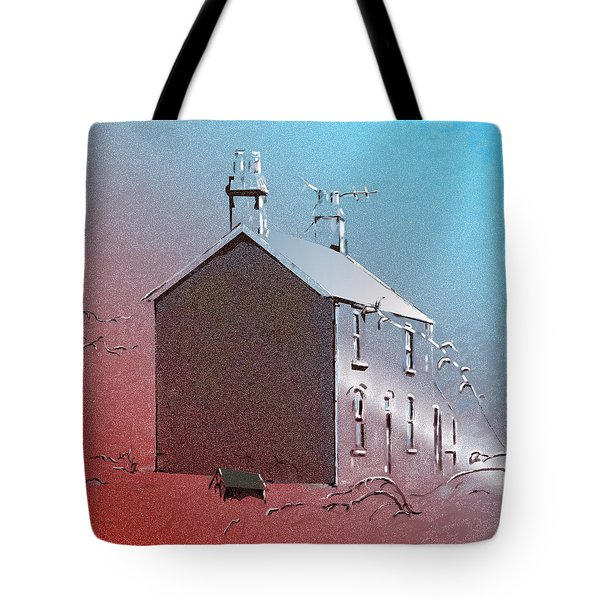Welsh House In Snow Tote Bag