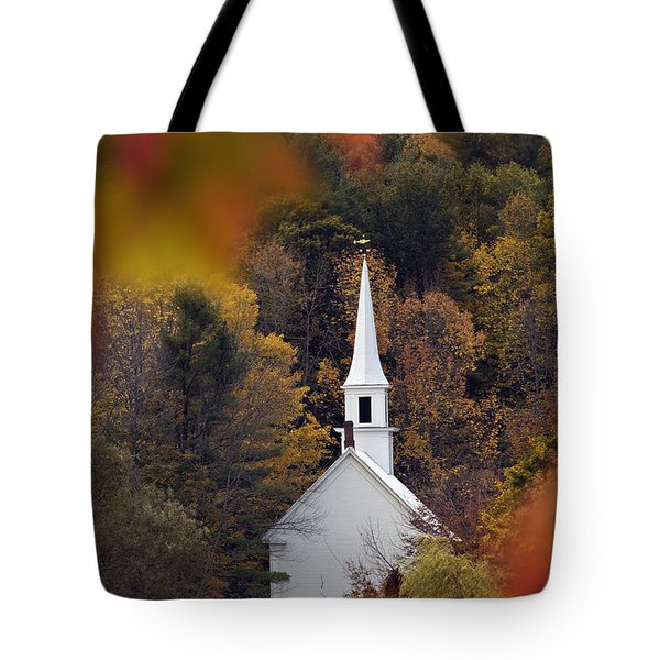 Little White Church - D007297 Tote Bag