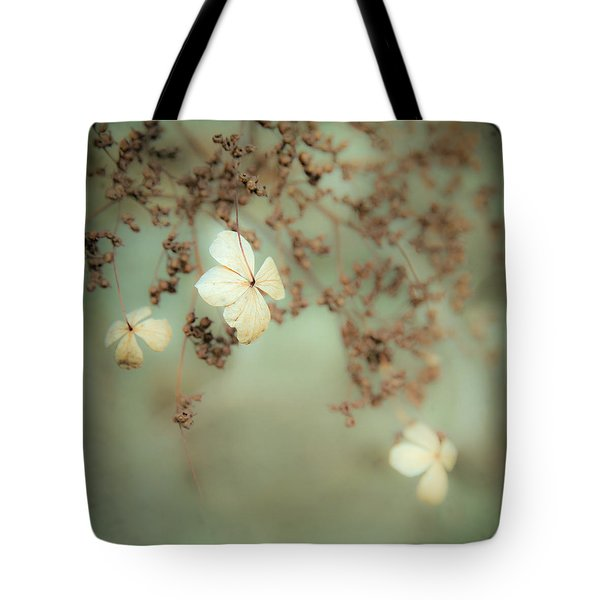 Little White Flowers - Floral - The Little Things In Life Tote Bag by Gary Heller