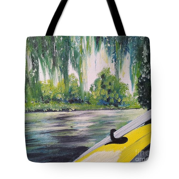 Little Yellow Boat Tote Bag