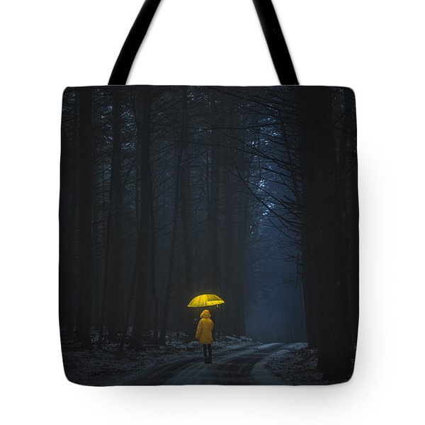 Little Yellow Riding Hood Tote Bag
