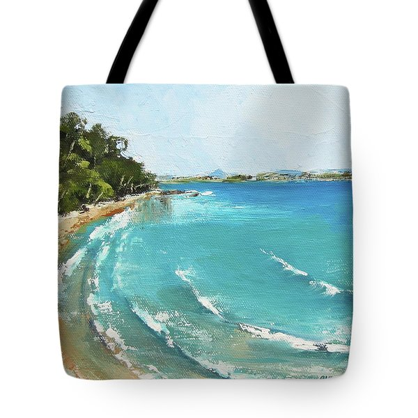Tote Bag featuring the painting Litttle Cove Beach Noosa Heads Queensland Australia by Chris Hobel