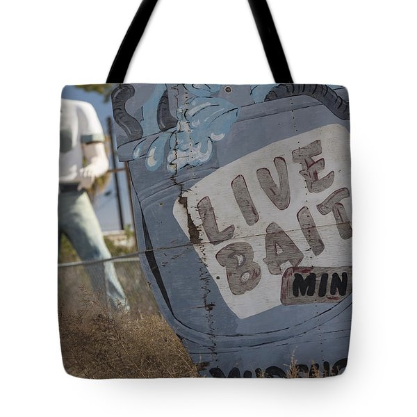 Live Bait And The Man Tote Bag