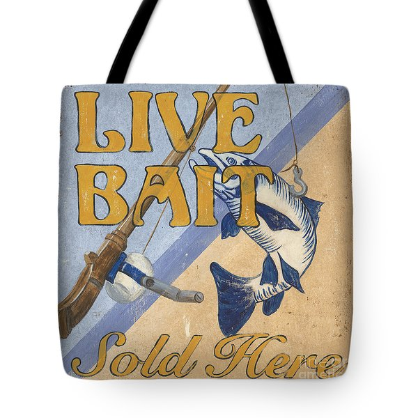 Live Bait Tote Bag