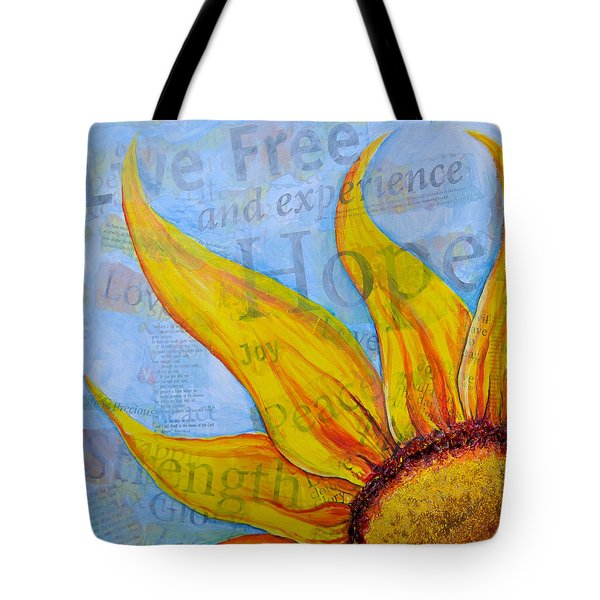 Tote Bag featuring the painting Live Free by Lisa Fiedler Jaworski