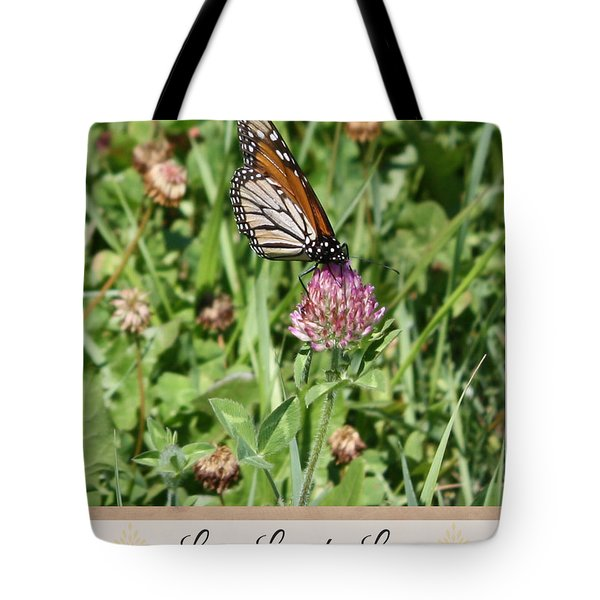 Live Laugh Love Butterfly Tote Bag