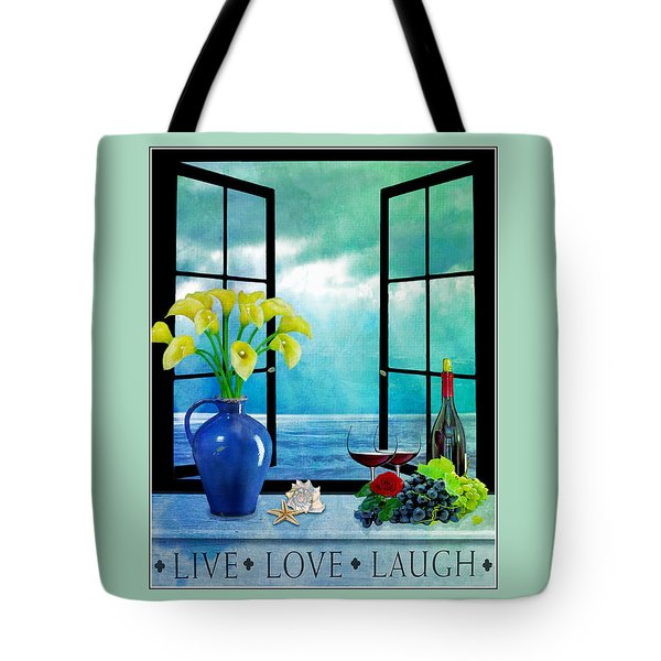 Live Love Laugh-2 Tote Bag by Nina Bradica