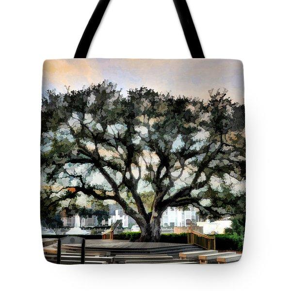Live Oak Artistic Trendering Tote Bag by Dan Friend