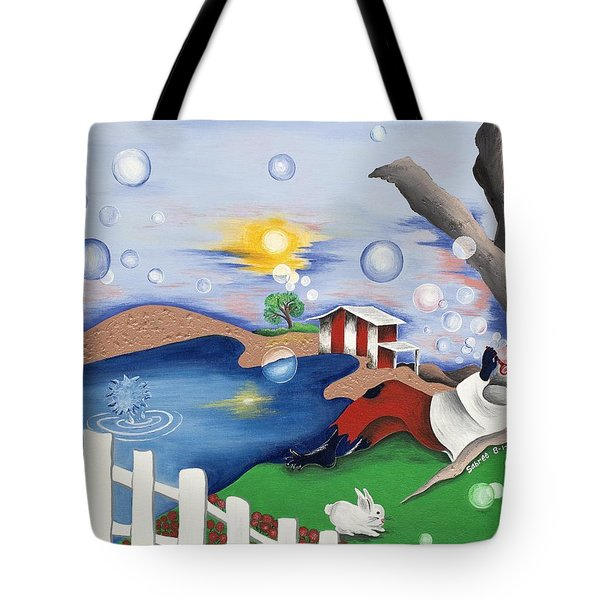 Live Out The Bubble Tote Bag by Patricia Sabree